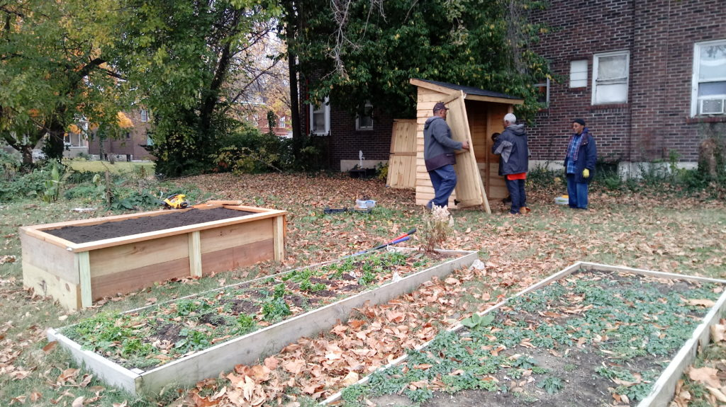 Lewis Place Historical Preservation Community Garden Expansion 2016