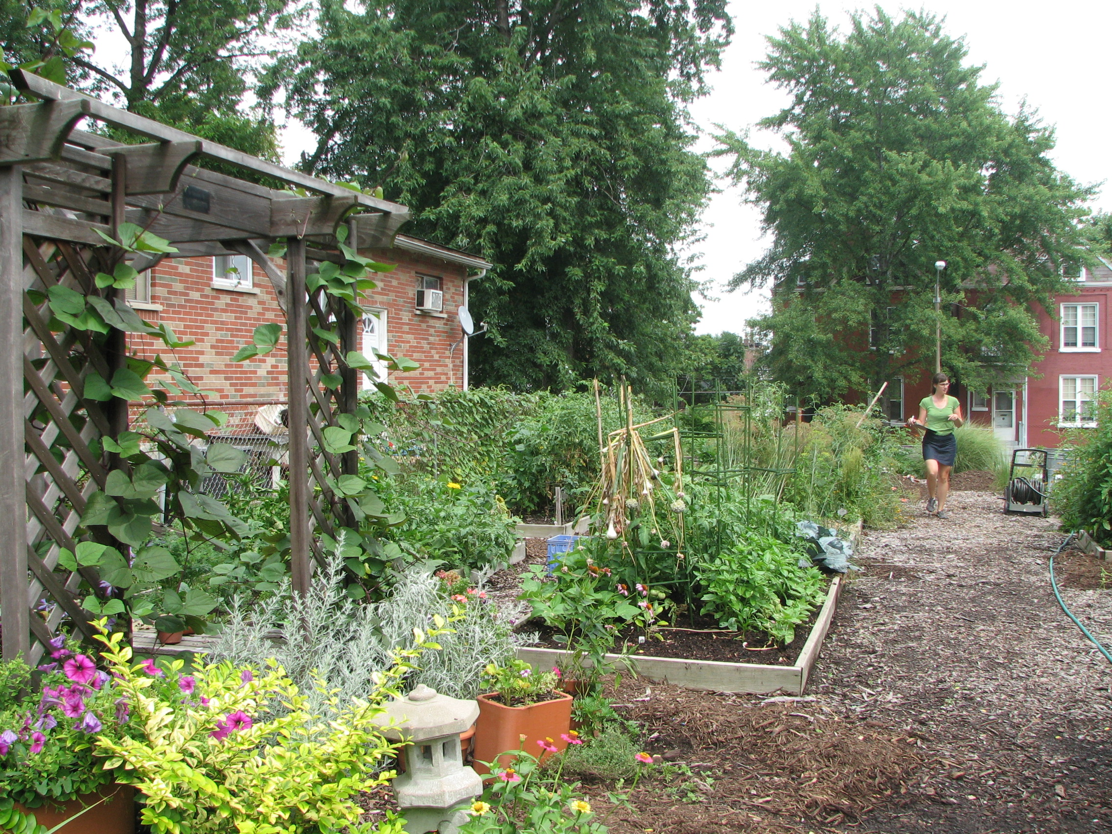 Voice from the tower grove east community garden gateway for Garden gateway