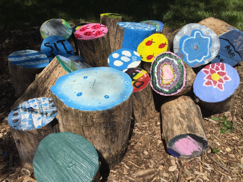 This beautiful artwork lives in the garden at Shaw VPA.