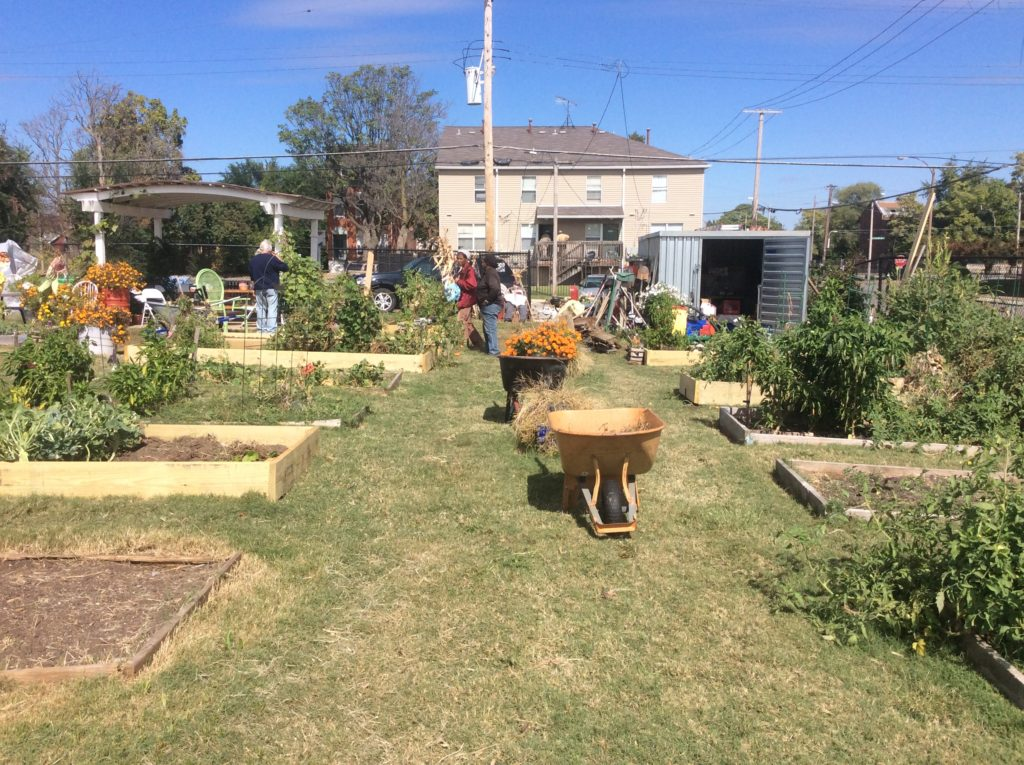 Fresh Starts Community Garden fall work day