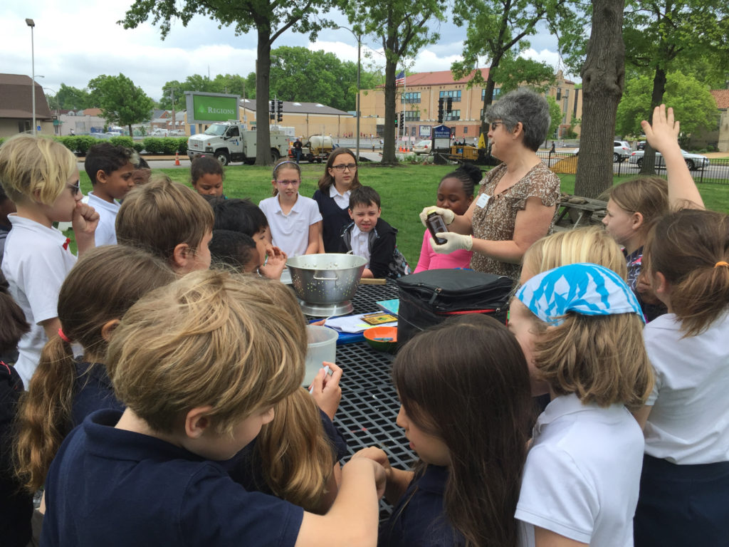Students came out to the garden to learn how to make a salad using the lettuce from their garden. Thank you Diana Finlay for the lesson on the easy dressing recipe.