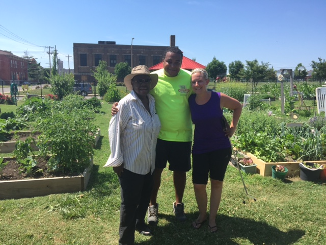 Rosie & friends at Fresh Starts Community Garden in 2016
